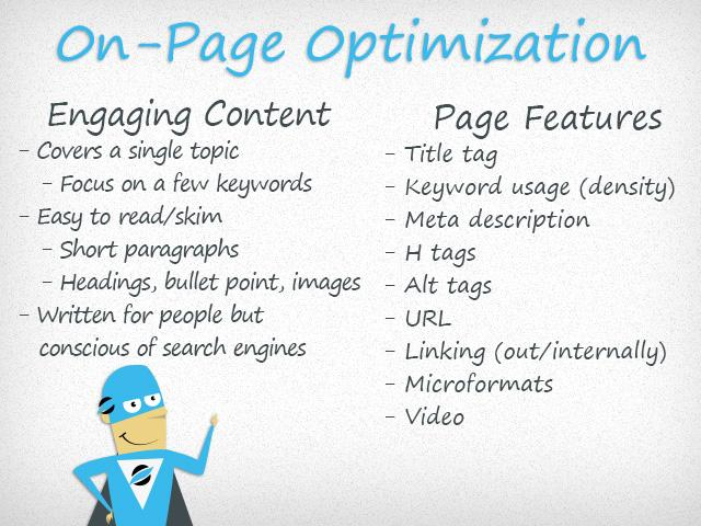 On Page Optimization